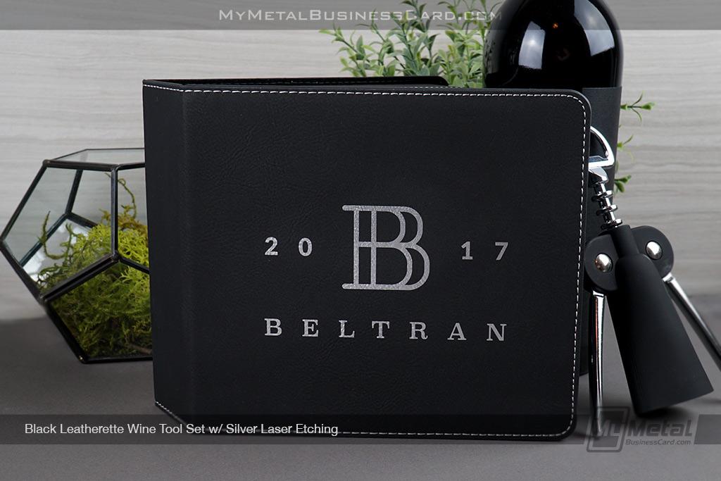 Black-Leatherette-Wine-Tool-Gift-Set-With-Custom-B-Initial-Name-Logo