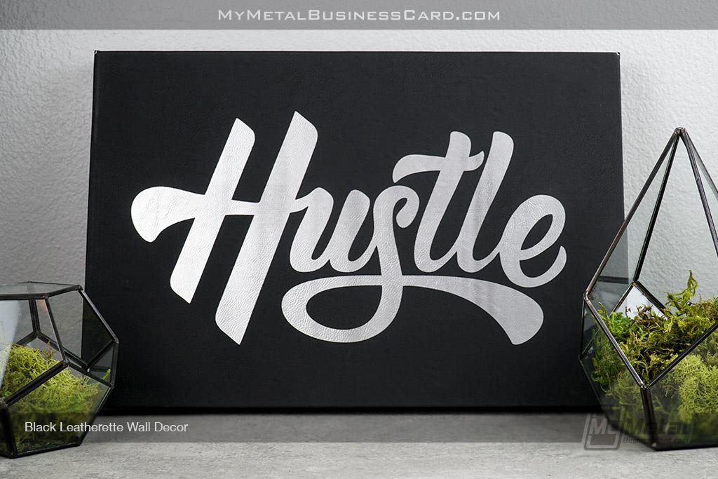 Black-Leatherette-Wall-Decor-Hustle-Artwork