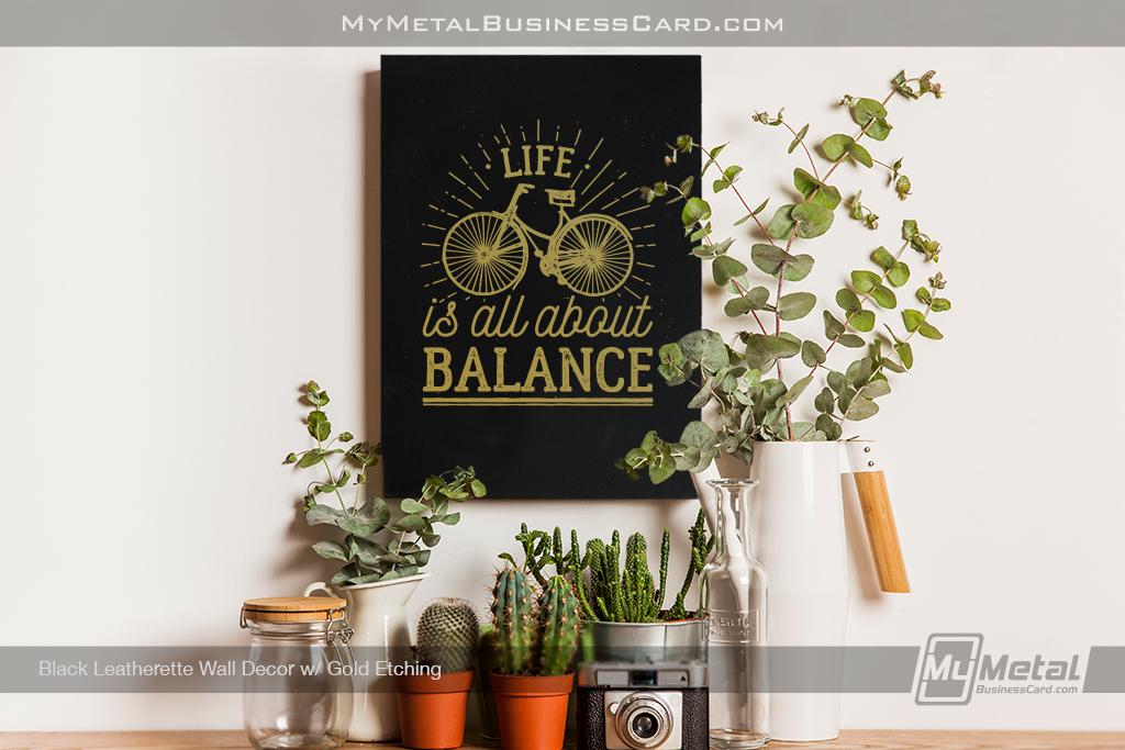 Black-Leatherette-Wall-Decor-Bike-Artwork