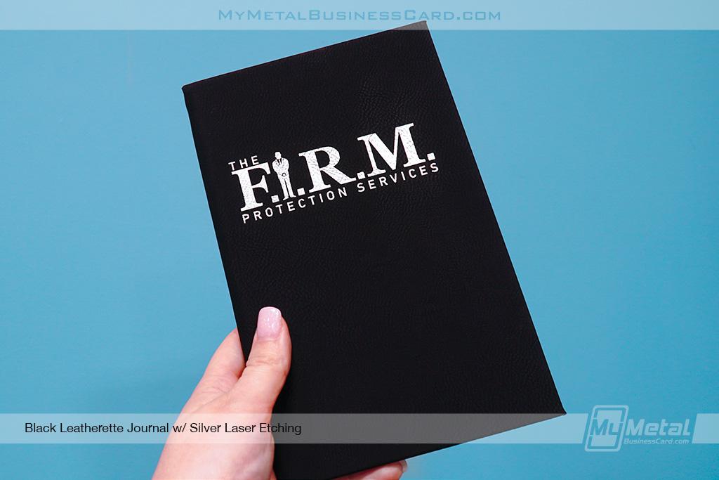 Black-Leatherette-Journal-For-FIRM-Custom-Logo