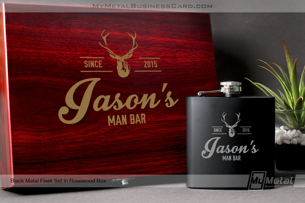 Black-Metal-Flask-Set-With-Rosewood-Box-For-Man-Bar