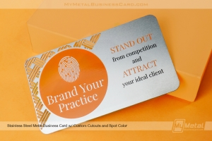 Brand your practice metal business card made from stainless steel