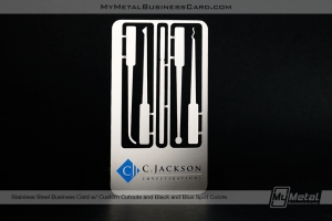 Lockpick style custom stainless steel metal business card for private investigators