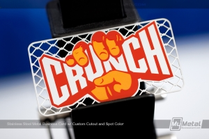 Stainless-Steel-Metal-Business-Card-Custom-Cutout-Spot-Color-Crunch-Gym