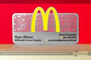 Stainless-Steel-Metal-Business-Card-Custom-Shape-Cutout-Spot-Color-McDonalds