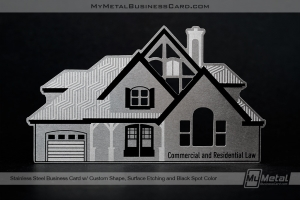 Stainless-Steel-Quick-Metal-Card-With-Custom-Shape-House-For-Realtor