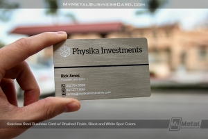Stainless-Steel-Metal-Card-With-Brushed-Finish-And-Black-And-White-Spot-Color