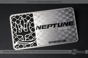 Stainless-Steel-Metal-Business-Card-With-Custom-Cutouts-Surface-Etching-And-Black-Color-For-Wakesports-Boat-Gear